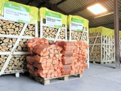 Kiln Dried Hardwood Logs Beech 30 Nets