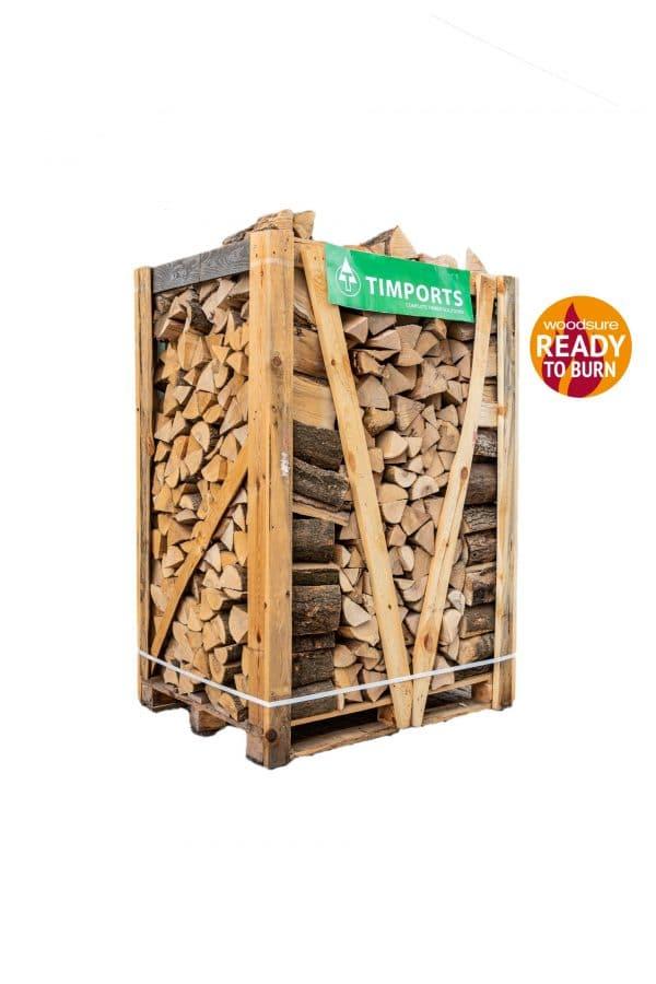 Kiln Dried Ash Logs Large Crate