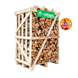 Large Crate Of Beech Logs Stacked